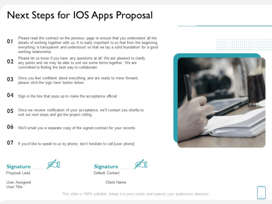 Operating System Application Next Steps For IOS Apps Proposal Ppt Show Files PDF