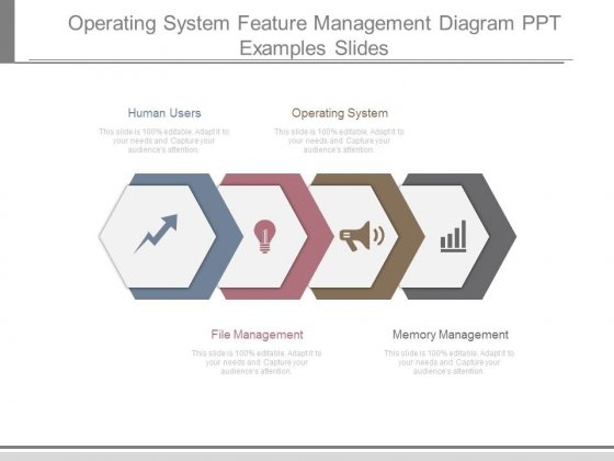 Operating System Feature Management Diagram Ppt Examples Slides