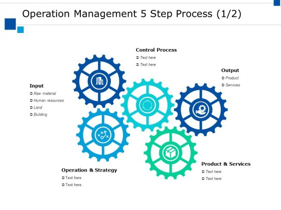 Operation Management 5 Step Process Ppt PowerPoint Presentation Professional Graphics Example