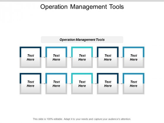 Operation Management Tools Ppt Powerpoint Presentation Portfolio Infographic Template Cpb