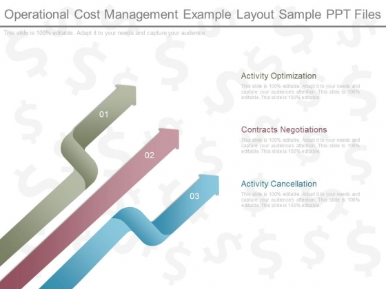 Operational Cost Management Example Layout Sample Ppt Files
