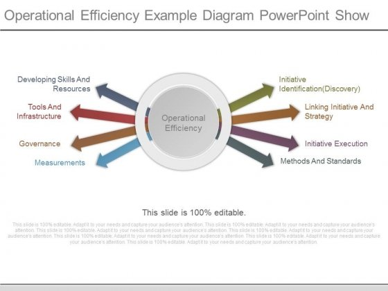 Operational Efficiency Example Diagram Powerpoint Show