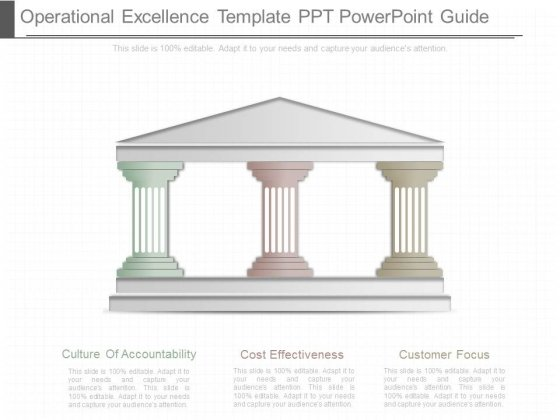 Operational Excellence Template Ppt Powerpoint Guide