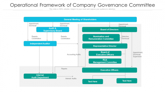 Operational Framework Of Company Governance Committee Ppt Outline Objects PDF