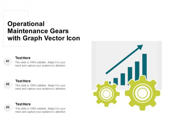 Operational Maintenance Gears With Graph Vector Icon Ppt PowerPoint Presentation Gallery Deck PDF