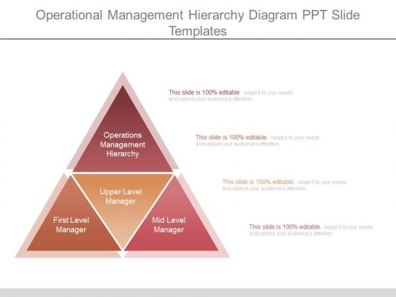Operational Management Hierarchy Diagram Ppt Slide Templates