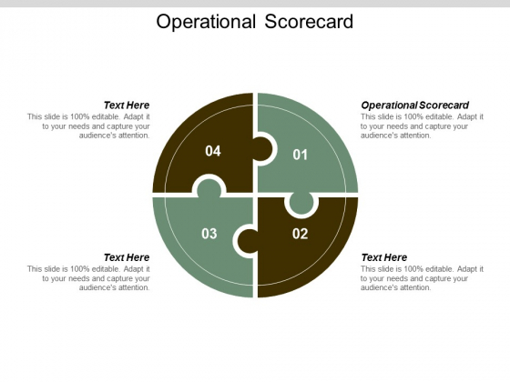 Operational Scorecard Ppt Powerpoint Presentation Icon Clipart Cpb