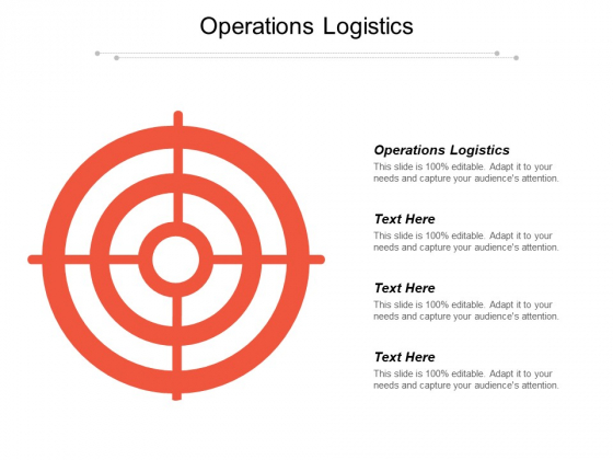 Operations Logistics Ppt PowerPoint Presentation Professional Graphics Download Cpb