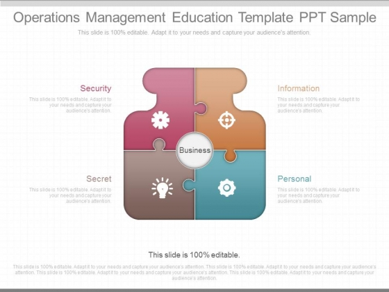 Operations Management Education Template Ppt Sample