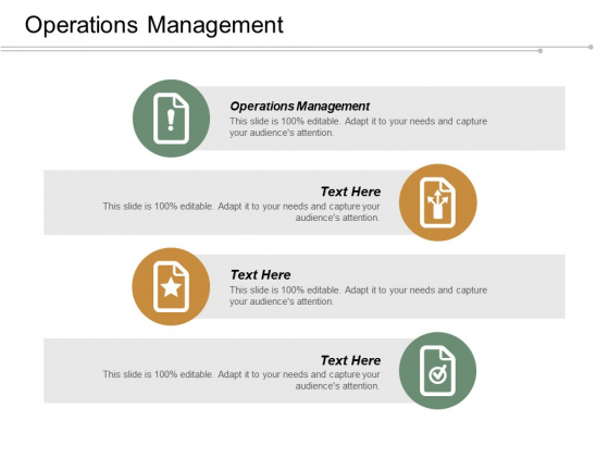Operations Management Ppt Powerpoint Presentation Infographic Template Show Cpb