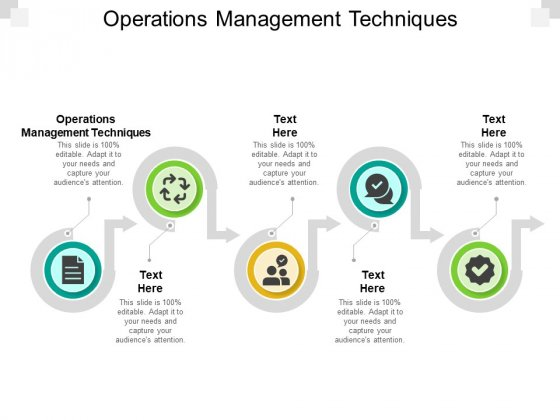 Operations Management Techniques Ppt PowerPoint Presentation Model Visual Aids Cpb