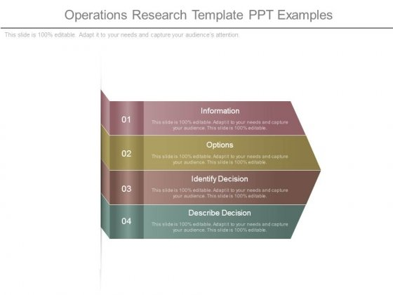 Operations Research Template Ppt Examples