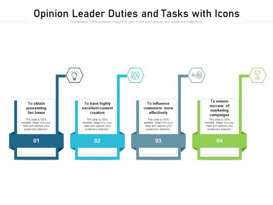 Opinion Leader Duties And Tasks With Icons Ppt PowerPoint Presentation File Grid PDF