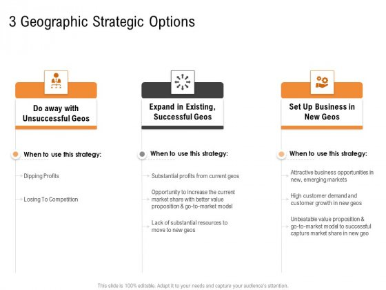 Opportunities And Threats For Penetrating In New Market Segments 3 Geographic Strategic Options Portrait PDF