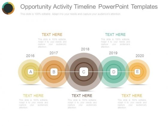 Opportunity Activity Timeline Powerpoint Templates