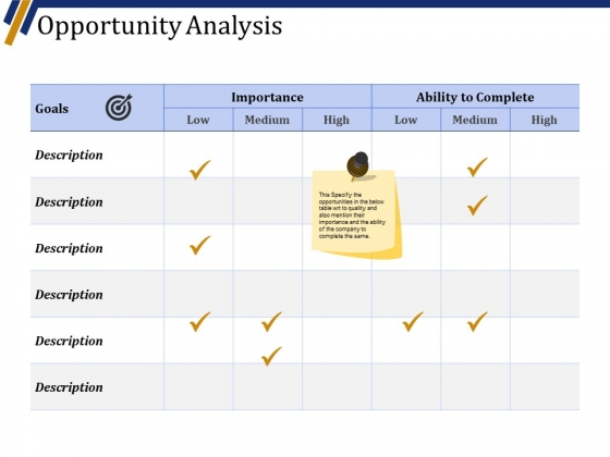 Opportunity Analysis Ppt PowerPoint Presentation Infographics Skills