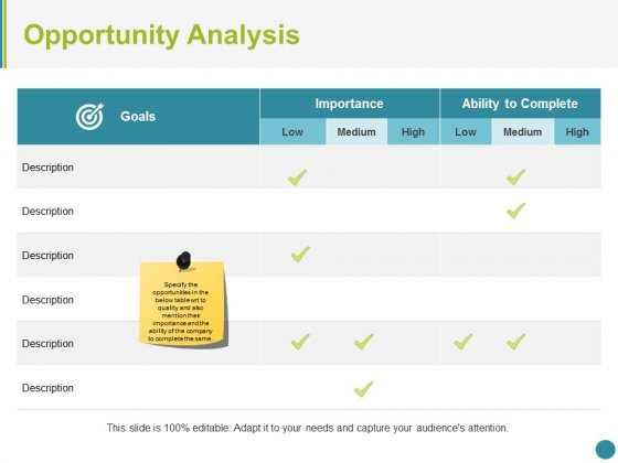 Opportunity Analysis Ppt PowerPoint Presentation Infographics Themes