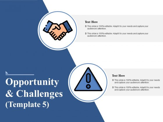 Opportunity And Challenges 5 Ppt PowerPoint Presentation Layouts Grid