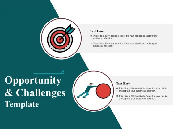 Opportunity And Challenges Free PowerPoint Diagram