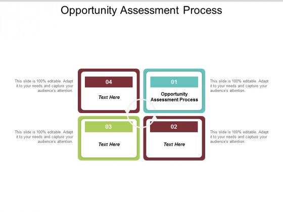 Opportunity Assessment Process Ppt PowerPoint Presentation Pictures Aids Cpb
