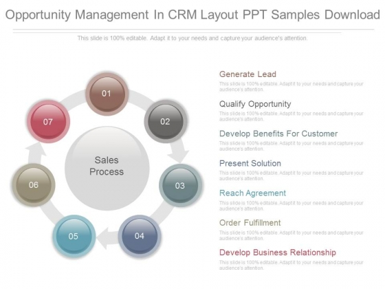 Opportunity Management In Crm Layout Ppt Samples Download