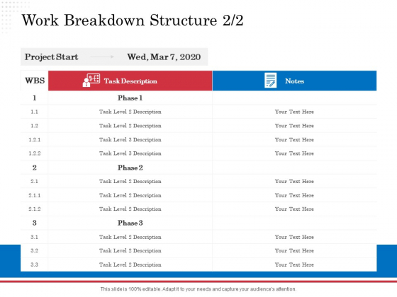 Opportunity Of Project Management Work Breakdown Structure Task Ppt File Graphic Images PDF