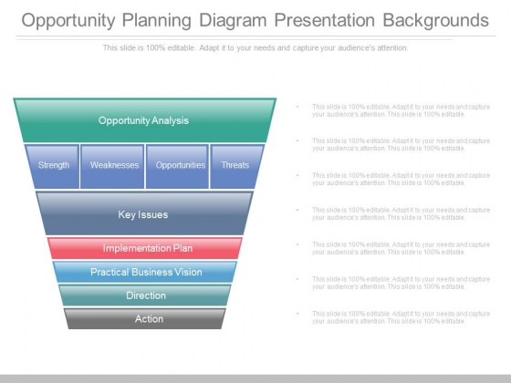 Opportunity Planning Diagram Presentation Backgrounds