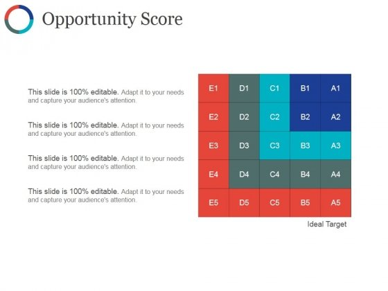 Opportunity Score Ppt PowerPoint Presentation Inspiration Example File