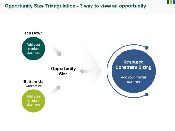Opportunity Size Triangulation 3 Way To View An Opportunity Ppt PowerPoint Presentation Infographics Brochure