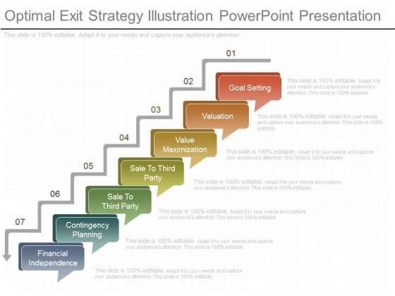 Optimal exit strategy illustration powerpoint presentation optimal exit strategy illustration powerpoint presentation powerpoint templates accmission Gallery