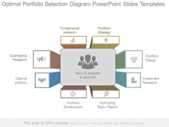 Optimal Portfolio Selection Diagram Powerpoint Slides Templates