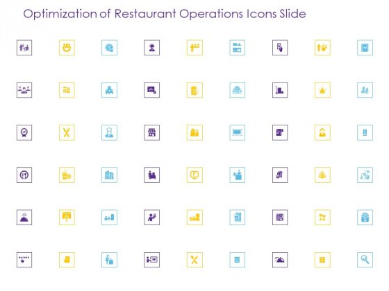 Optimization Of Restaurant Operations Icons Slide Ppt Inspiration Show PDF
