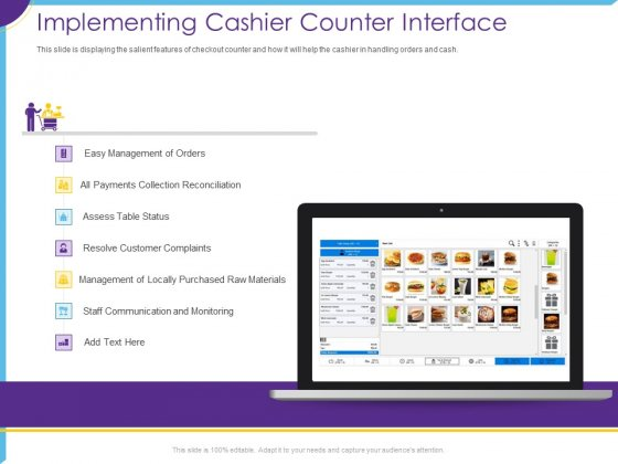 Optimization Restaurant Operations Implementing Cashier Counter Interface Ideas PDF