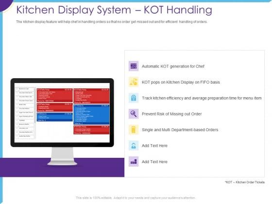 Optimization Restaurant Operations Kitchen Display System Kot Handling Diagrams PDF