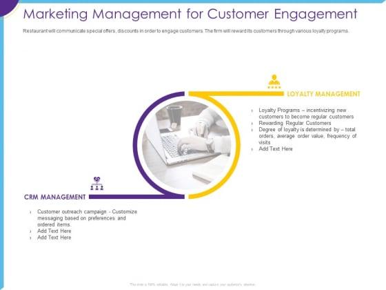 Optimization Restaurant Operations Marketing Management For Customer Engagement Formats PDF