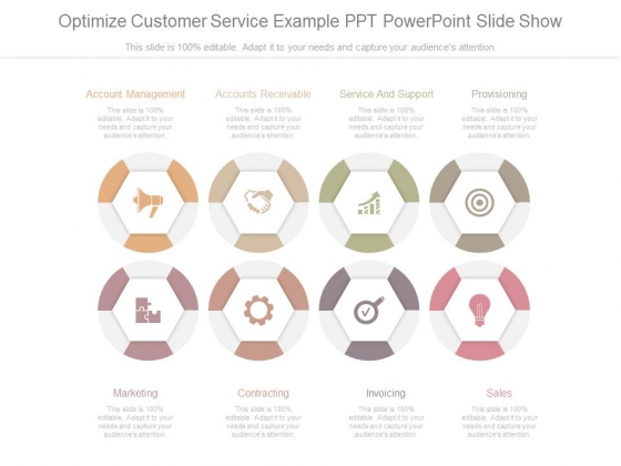 Optimize Customer Service Example Ppt Powerpoint Slide Show