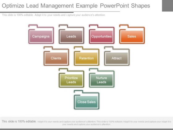 Optimize Lead Management Example Powerpoint Shapes