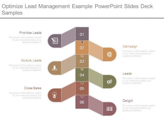 Optimize Lead Management Example Powerpoint Slides Deck Samples