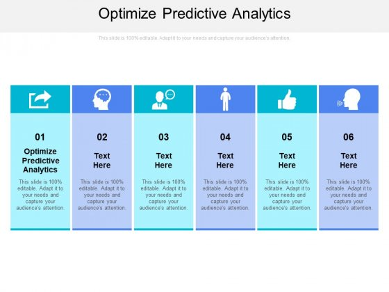 Optimize Predictive Analytics Ppt PowerPoint Presentation Icon Picture Cpb