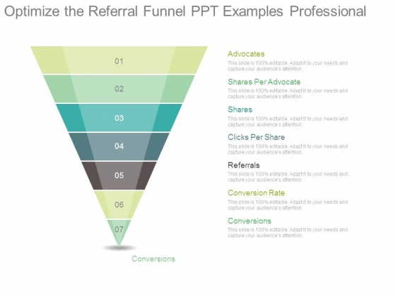 Optimize The Referral Funnel Ppt Examples Professional
