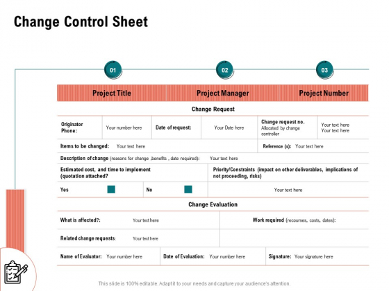 Optimizing Cost During Business Transformation Change Control Sheet Ppt PowerPoint Presentation Model File Formats PDF