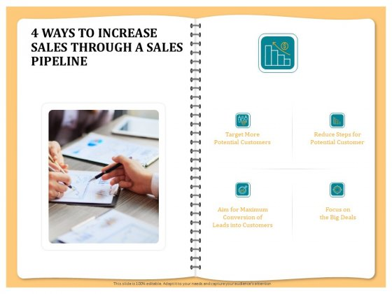 Optimizing Marketing Channel For Profit Increment 4 Ways To Increase Sales Through A Sales Pipeline Background PDF