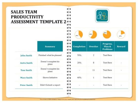 Optimizing Marketing Channel For Profit Increment Sales Team Productivity Assessment Template Microsoft PDF