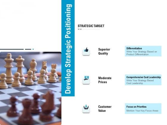 Optimizing The Marketing Operations To Drive Efficiencies Develop Strategic Positioning Portrait PDF