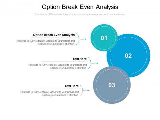 Option Break Even Analysis Ppt PowerPoint Presentation Pictures Aids Cpb Pdf