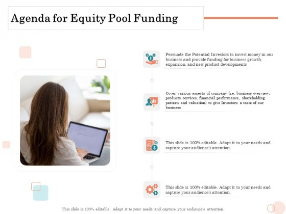 Option_Pool_Funding_Pitch_Deck_Agenda_For_Equity_Pool_Funding_Ppt_Pictures_Portfolio_PDF_Slide_1