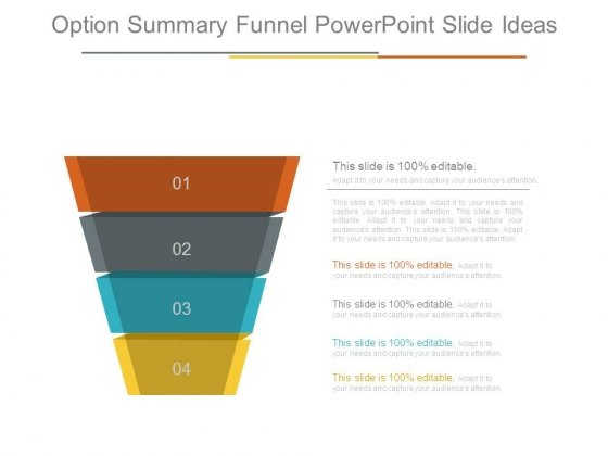 Option Summary Funnel Powerpoint Slide Ideas