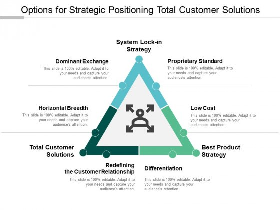 Options For Strategic Positioning Total Customer Solutions Ppt PowerPoint Presentation Inspiration Graphics Example