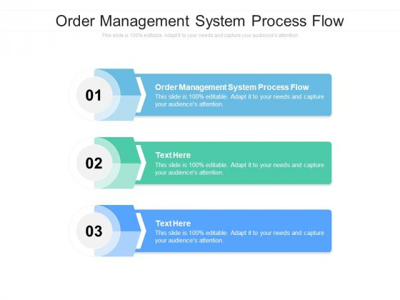 Order Management System Process Flow Ppt PowerPoint Presentation Professional Design Inspiration Cpb