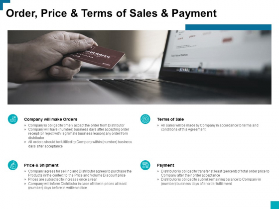 Order Price And Terms Of Sales And Payment Ppt PowerPoint Presentation Pictures Example